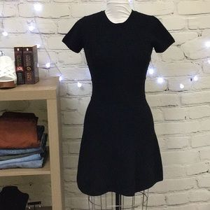 Theory Size Small Navy Stretch Fit/Flare Dress